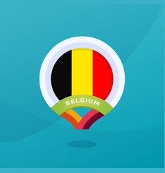 belgium flag map location pin european football vector image