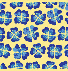 bright summer plaid floral seamless pattern vector image