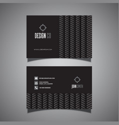 business card with chevron pattern vector image