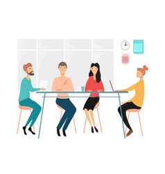 business people meeting team discussion vector image