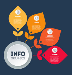 business presentation concept with 4 parts and vector image