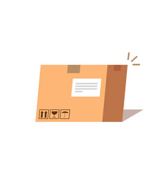 carton box concept of fast delivery flat vector image