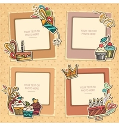 Collage of nice photo frame vector