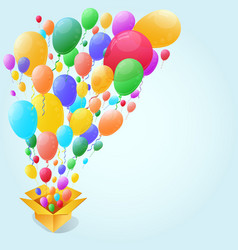 Colorful balloon abstract background vector