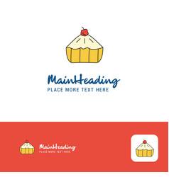 creative cake logo design flat color logo place vector image