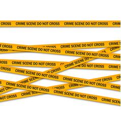 Crime scene do not cross yellow police tape vector