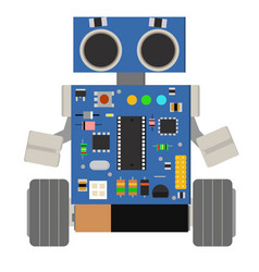 Cute and funny homemade diy robot vector