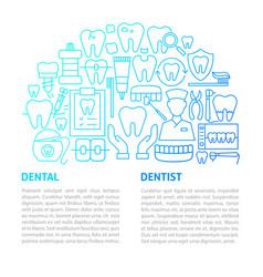 dentist line template vector image