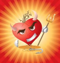 Devil heart vector