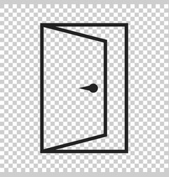 Door icon in line style exit icon open door vector
