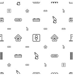 Door icons pattern seamless white background vector