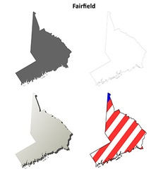 Fairfield Map Icon Set vector