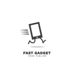 fast gadget logo vector image