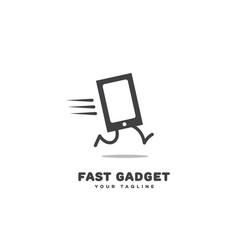 Fast gadget logo vector