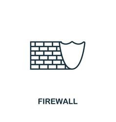 Firewall thin line icon creative simple design vector