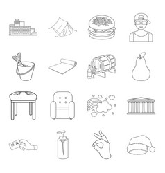 Fishing furniture fitness and other web icon in vector