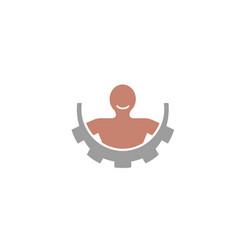 gear body logo vector image