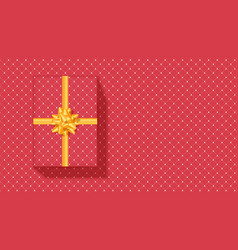 gift box with yellow ribbon and bow tie classical vector image