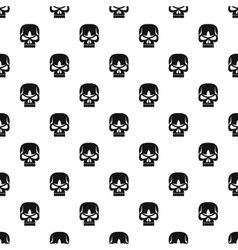 Human skull pattern simple style vector