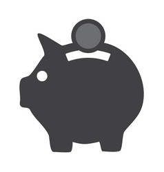 icon pig piggy bank on a white background vector image