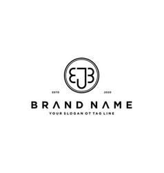 Letter ejb logo design concept vector
