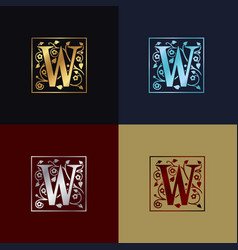 letter w decorative logo vector image