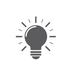 light bulb icon on white background energy and vector image
