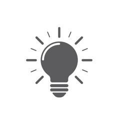 light bulb icon on white background energy vector image