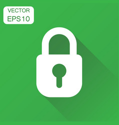 Lock icon business concept padlock locker vector