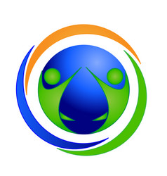logo happy teamwork unity partnership people vector image