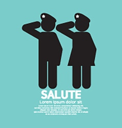 Man And Woman Gave The Salute Gesture vector image