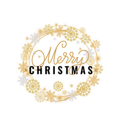 merry christmas festive greeting calligraphic vector image
