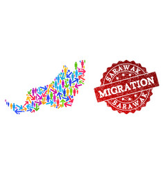 Migration composition of mosaic map of malaysian vector