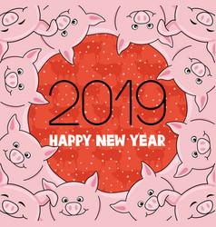 New year 2019 vector