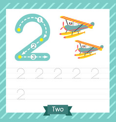 Number 2 transportation tracing worksheet vector