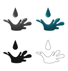 Oil drop icon in cartoon style isolated on white vector