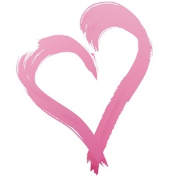 Painted Heart Shape vector image