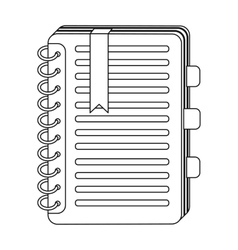 Personal dictionary icon in outline style isolated vector