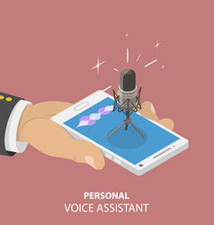 Personal voice isometric flat conceptual vector