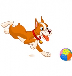 Playful dog vector