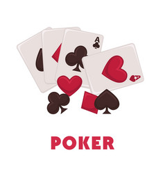 poker game promotional poster with play cards of vector image