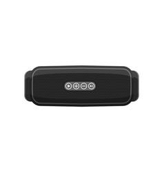 Portable wireless speaker for music smart device vector