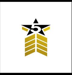 premium quality five stars 5 star logo design vector image