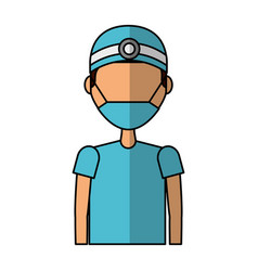 Professional surgeon avatar character vector