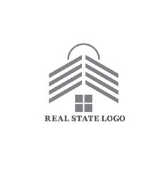 real-state-logo-design vector image