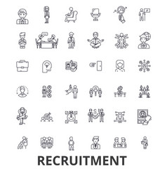 recruitment hiring human resources career vector image