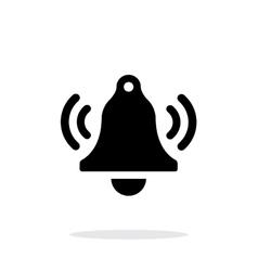 Ringing bell simple icon on white background vector image