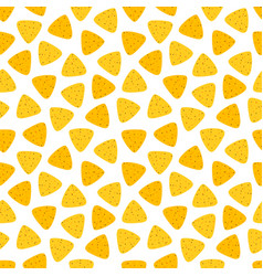 Seamless pattern with nachos or tortilla chips vector