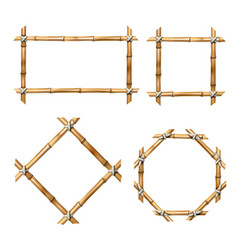 Set of bamboo frames vector