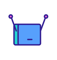 Set-top box hdtv icon outline vector